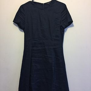 Theory Linen Navy Dress